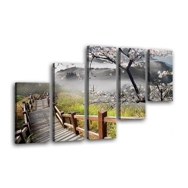Pomost többrészes fali kép, 100 x 150 cm - Styler