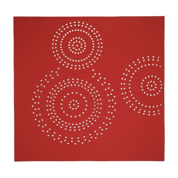 Koberec Bora 170x170 cm, červený