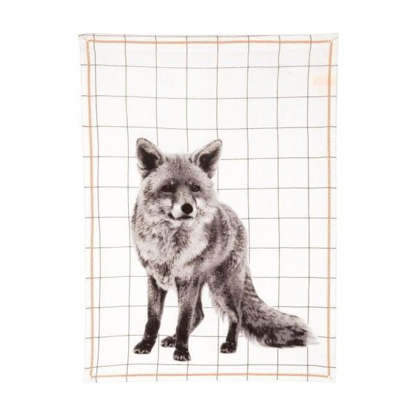 Kuchyňská utěrka Grid Fox, 50x70 cm