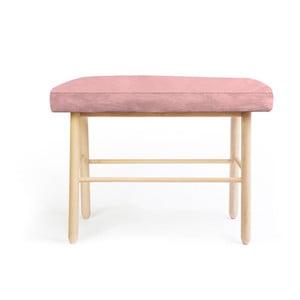 Stolička z borovicového dřeva s růžovým sametovým potahem Velvet Atelier