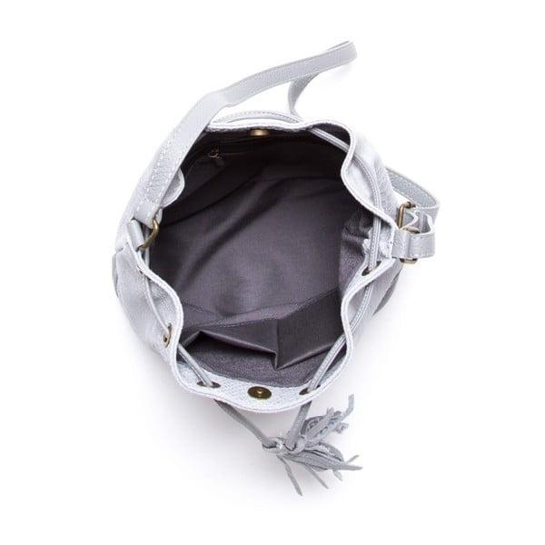 Kožená kabelka Luisa Vannini 8027 Grigio