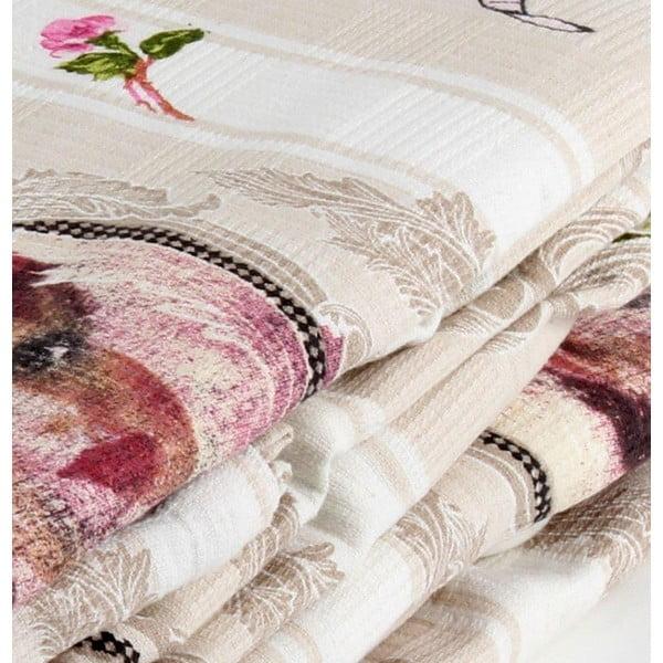 Růžový přehoz přes postel Love Colors Karen, 200 x 240 cm
