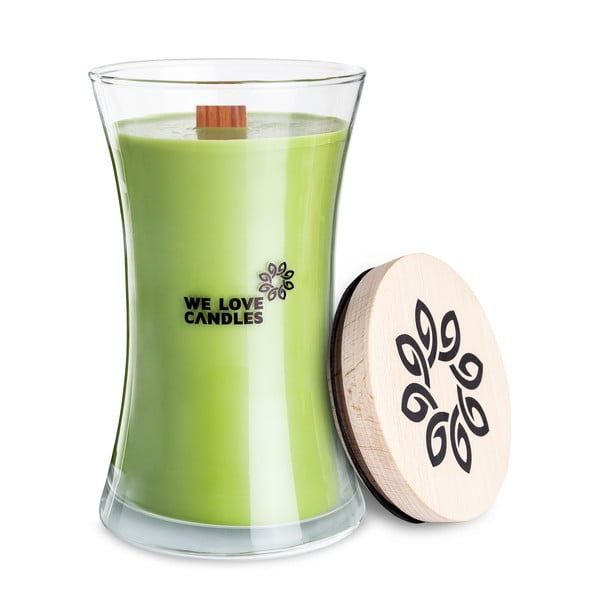 Lumânare din ceară de soia We Love Candles Green Tea, 301 ore de ardere