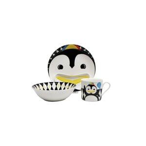 Dětský snídaňový set z kostního porcelánu Silly Design Pop Pingwin