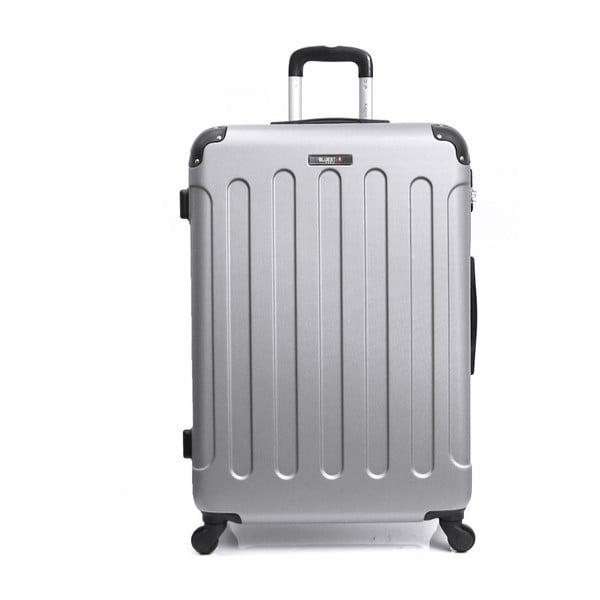 Cestovní kufr ve stříbrné barvě na kolečkách Bluestar, 32 l