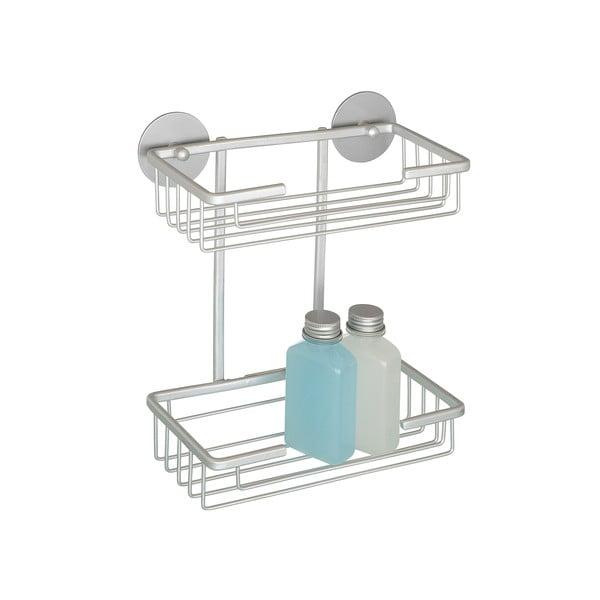 Samodržící dvoupatrová polička Wenko Aluminium, až 40 kg