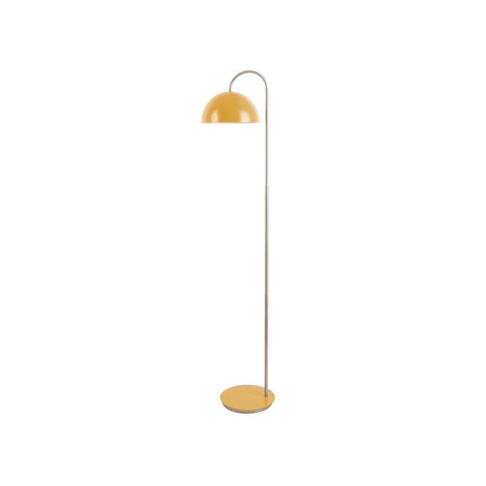 Stojací lampa v matné žluté barvě Leitmotiv Decova