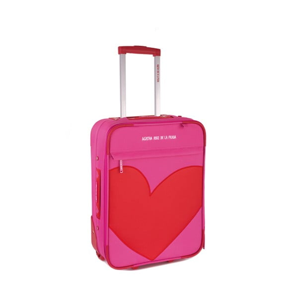 Kufr Agatha 36x50x20 cm, růžový