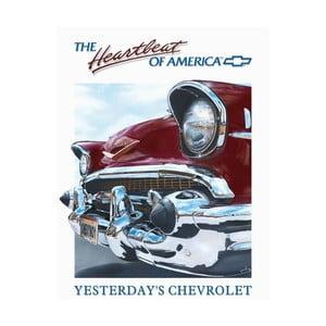 Plechová cedule Heartbeat of America, 30x40 cm
