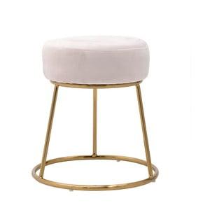 Růžová stolička InArt Velvet Society, výška46cm