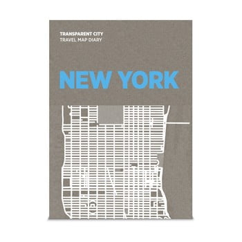 Jurnal pentru notițe pe hartă Palomar Transparent City New York de la Palomar
