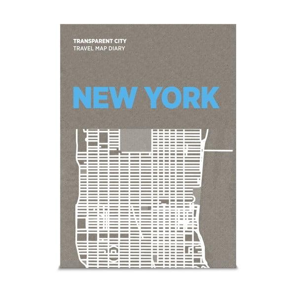 Jurnal pentru notițe pe hartă Palomar Transparent City New York