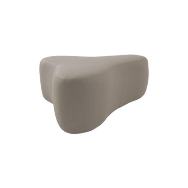 Šedobéžový puf Softline Chat Valencia Sand, délka 90 cm