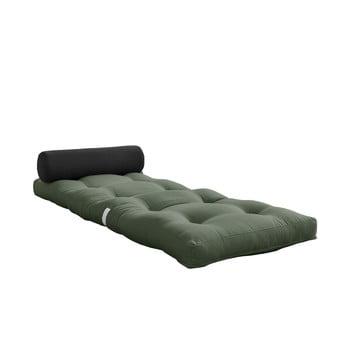 Saltea pliabilă Karup Design Wrap Olive Green/Dark Grey imagine