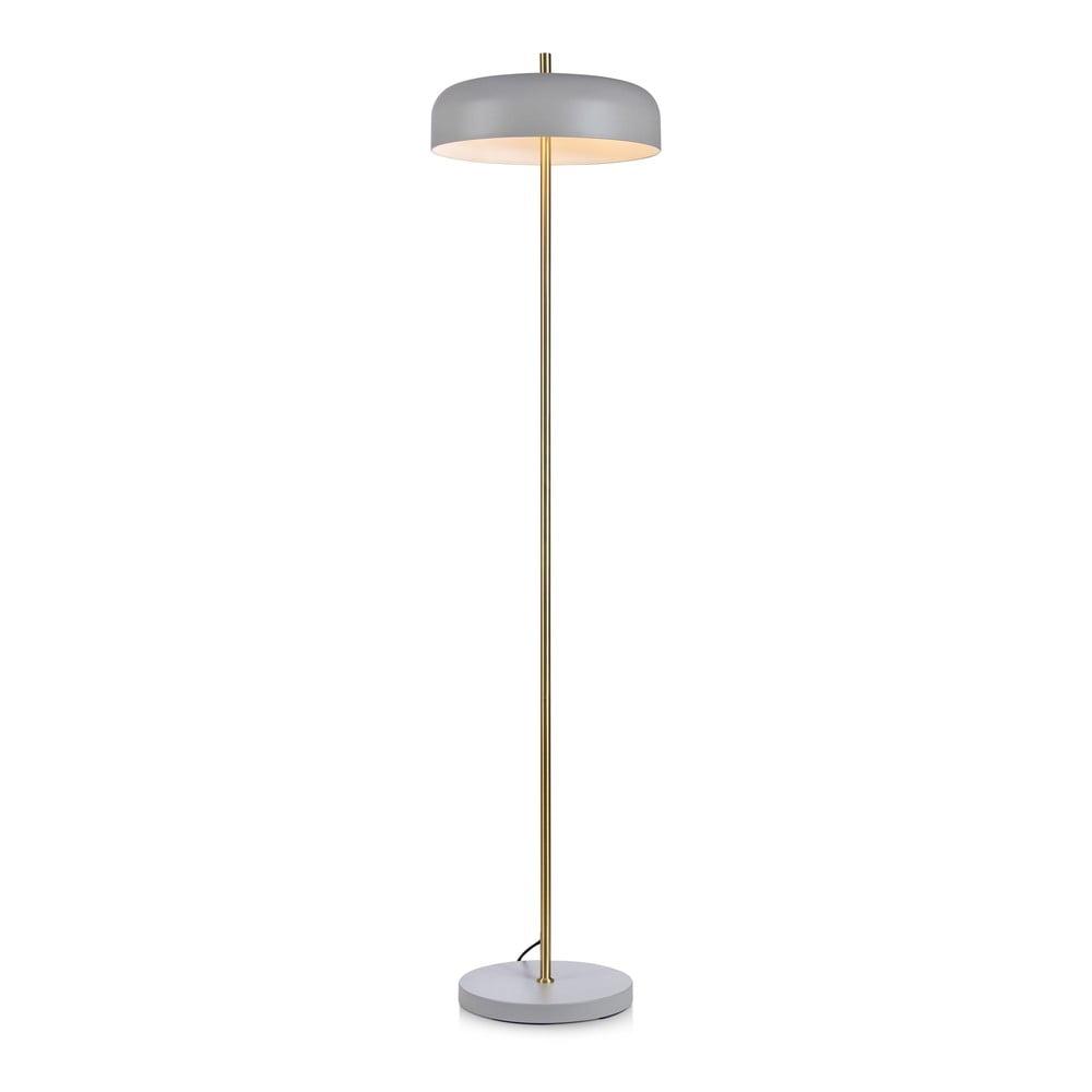 Šedá volně stojící lampa Markslöjd Caen Floor 2L
