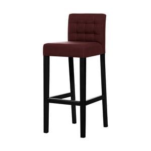 Cihlově červená barová židle s černými nohami Ted Lapidus Maison Jasmin