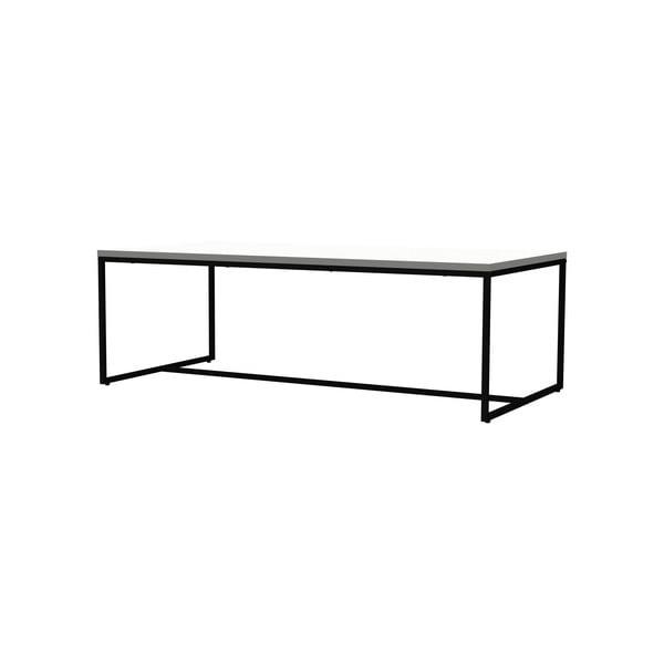 Biały stolik do jadalni z metalową konstrukcją w czarnym kolorze Tenzo Lipp