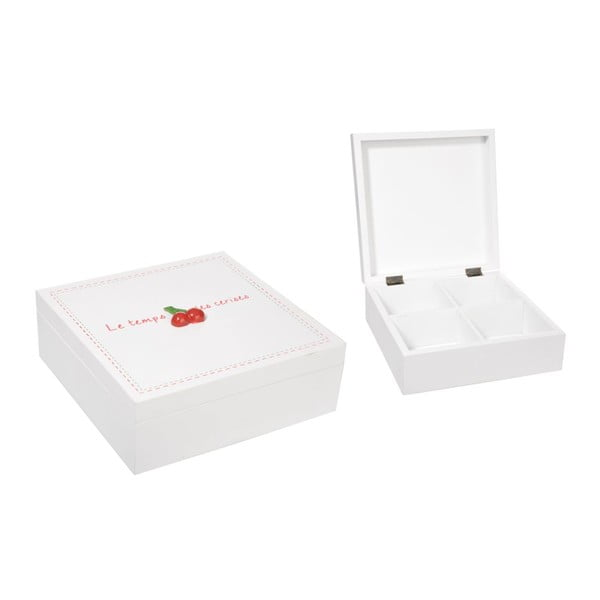 Krabička La Cerise s přihrádkami, bílá