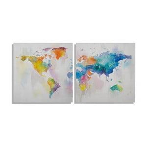 Sada 2 ručně malovaných obrazů Mauro Ferretti Mad World,100x100cm