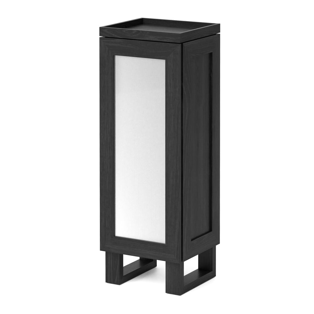 Černá koupelnová skříňka z dubového dřeva Wireworks Mezza