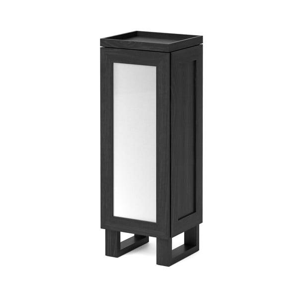 Čierna kúpeľňová skrinka z dubového dreva Wireworks Mezza