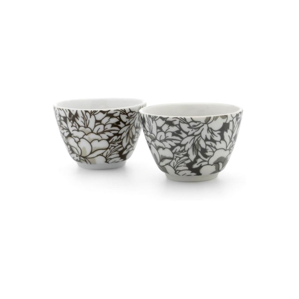 Sada 2 hnědých porcelánových hrnků na čaj Bredemeijer Yantai