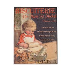 Poster metalic Antic Line Biscuiterie II, 35 x 37 cm
