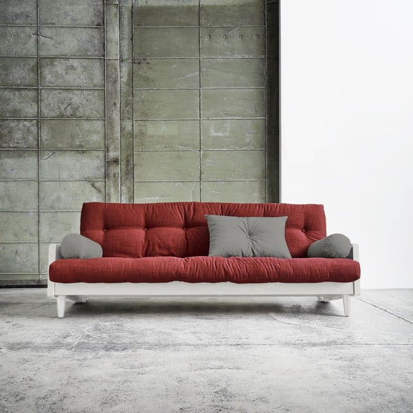 Rozkládací pohovka Karup Indie White/Passion Red/Granite Grey