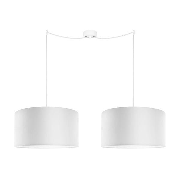 Sada dvou závěsných svítidel Tres, bílá. průměr 40 cm