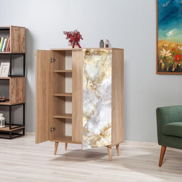 Variabilní dvoudveřová komoda Newbox Light Marble, 126 x 80 cm
