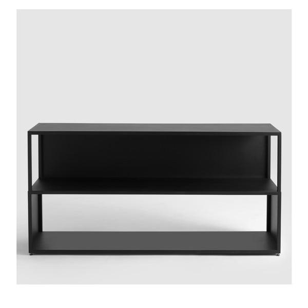 Černá knihovna Custom Form Hyllermetal, výška75cm