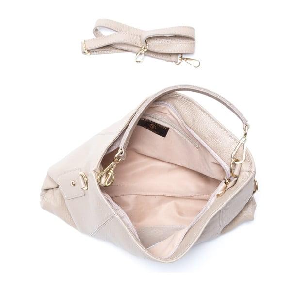 Kožená kabelka Caprice, šedohnědá