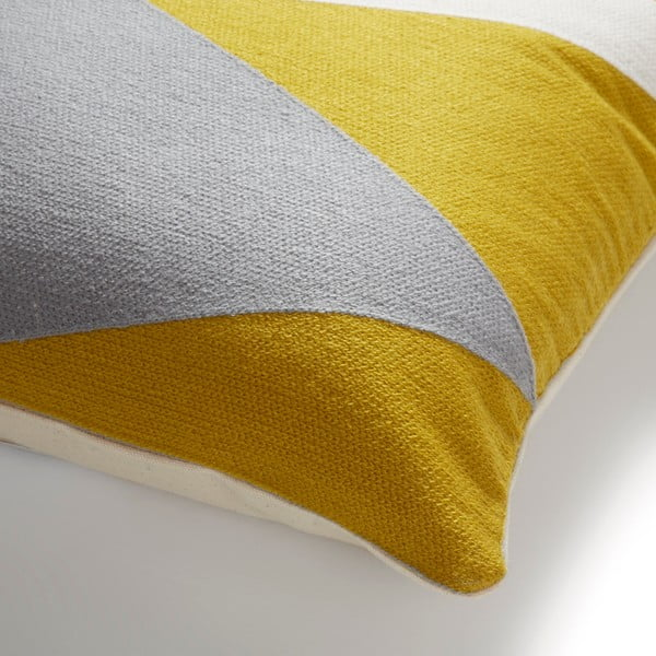 Pernă La Forma Vang, 45 x 45 cm, galben - gri