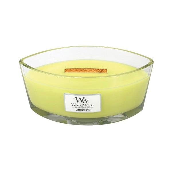 Svíčka s vůní lilií a citronové trávy WoodWick, dobahoření80hodin