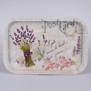 Plechový podnos Lavender Postcard