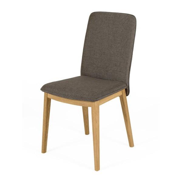 Sada 2 jídelních židlí s podnožím z dubového dřeva Woodman Adra Naturo Dark