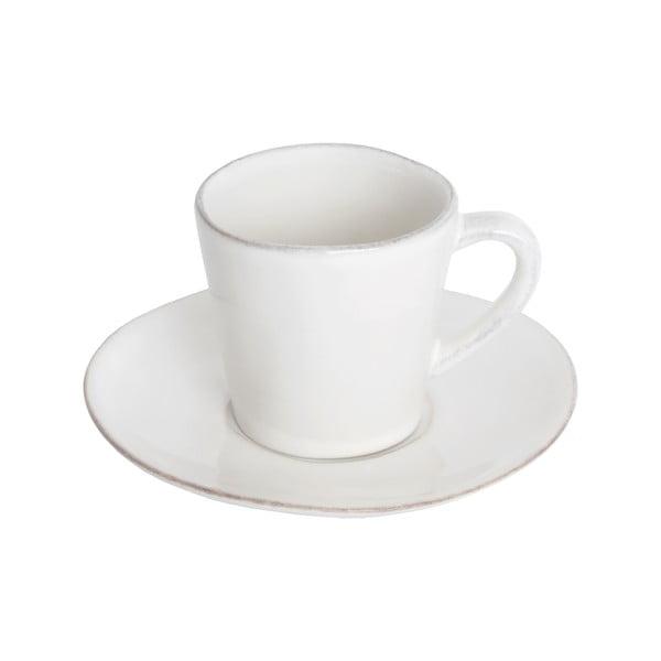 Bílý keramický šálek na kávu s podšálkem Ego Dekor Nova,70ml