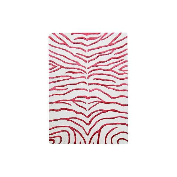 Ručně tkaný koberec Zebra, 122x183 cm, červený