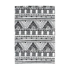 Koberec Aztec, black/white, 120x170 cm