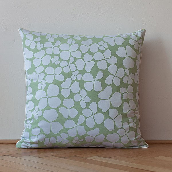 Polštář s výplní Light Green Flowers, 50x50 cm