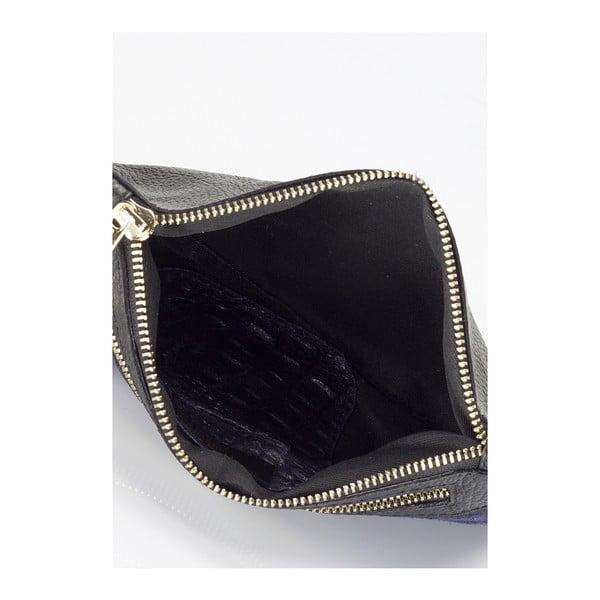 Modrá kožená kabelka Markese Tulla