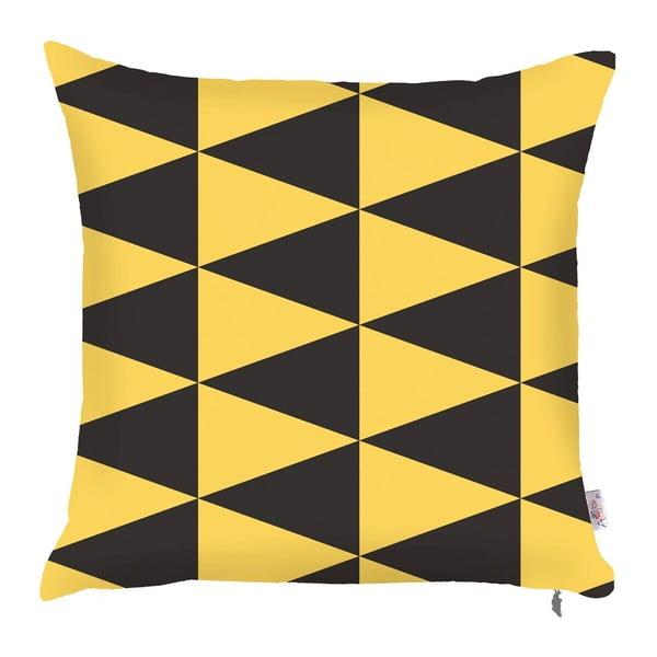 Obliečka na vankúš Apolena Yellow Triangles, 43 × 43 cm