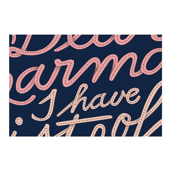 Plakát Dear Karma Pink, 30x30 cm