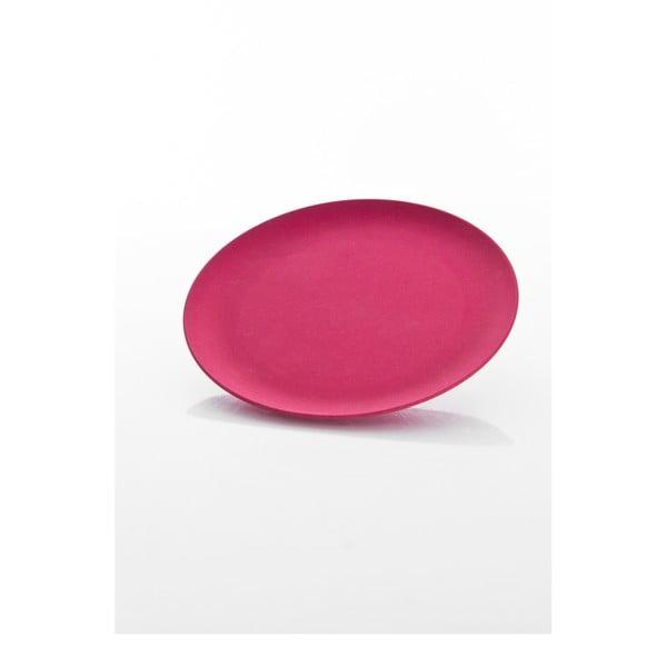 Talíř 20,8 x 1,3 cm, tmavě růžový