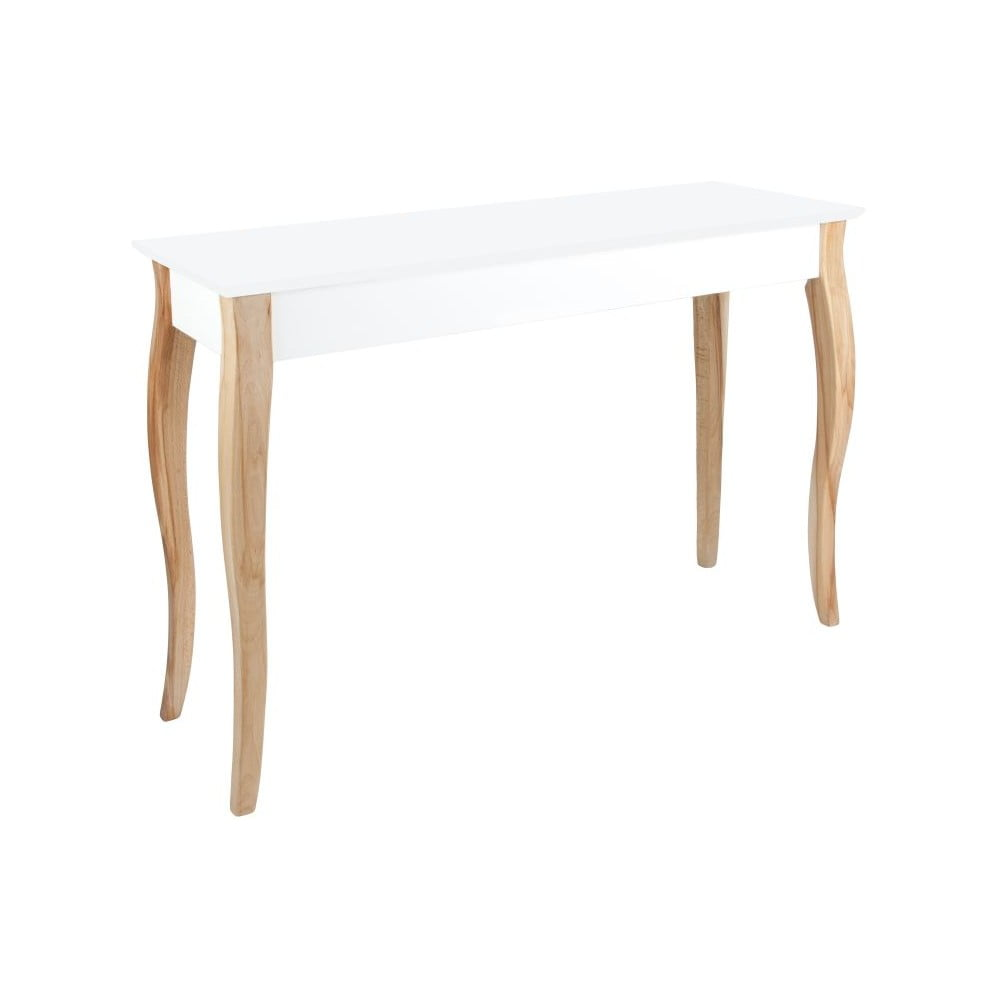 Bílý toaletní stolek se zrcadlem Ragaba Dressing Table, délka 105 cm
