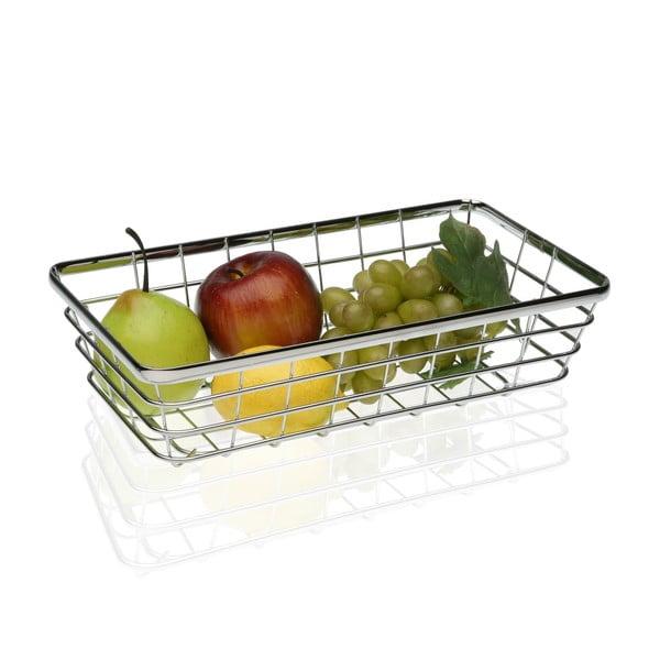 Oceľový košík na ovocie Versa Chrome, 32×18 cm