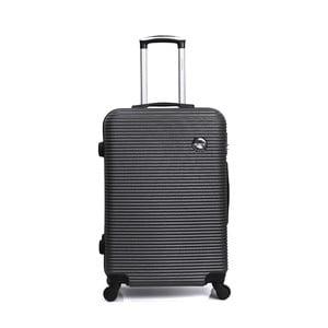 Tmavě šedý cestovní kufr na kolečkách BlueStar Porto, 64l