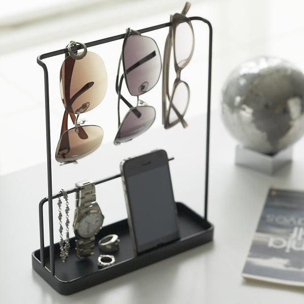 Černý stojánek na brýle a šperky Yamazaki Tower