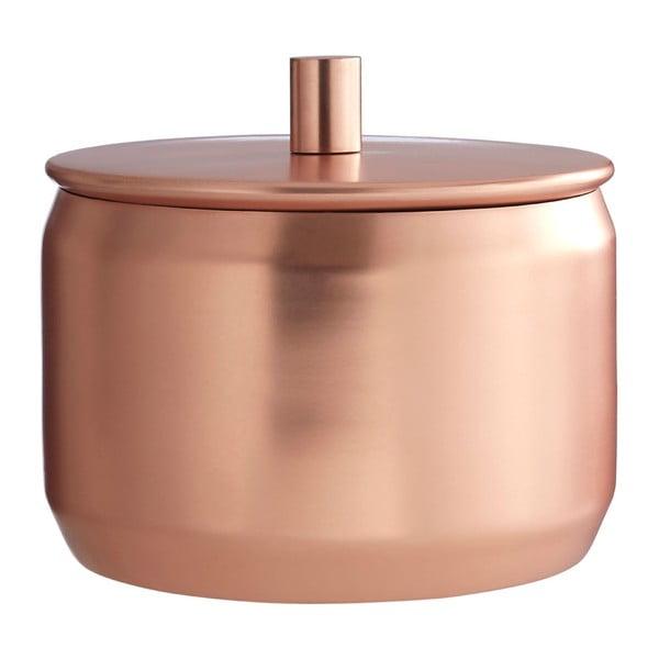 Rézszínű rozsdamentes acél tárolódoboz, ⌀ 12 x 11 cm - Premier Housewares