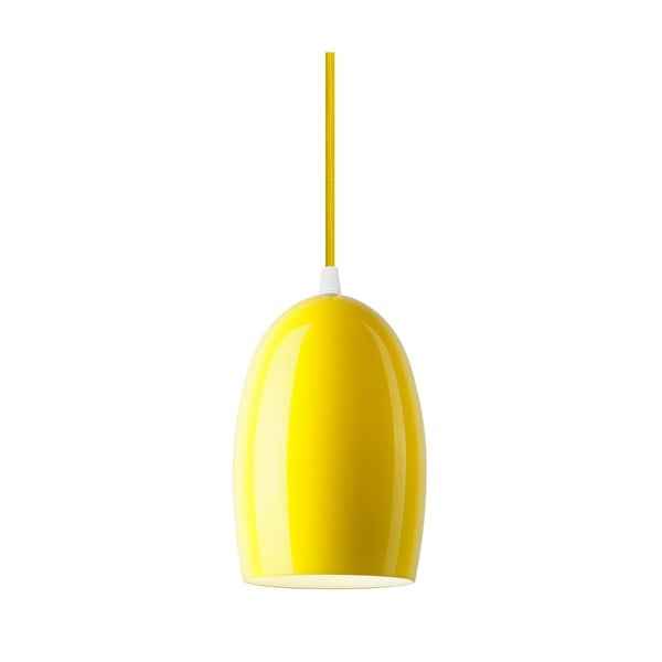 Žluté lesklé závěsné svítidlo Sotto Luce UME